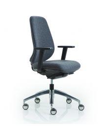 Luxy Pratica bureaustoel, EN1335 norm, met luxe 4D armleggers