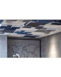 Akoestisch plafondpaneel NIVA RAW, 59x59x9 cm, incl. bevestigingsmateriaal