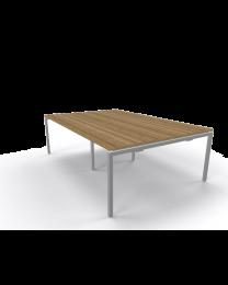 *** UITVERKOOP *** N-poot vergadertafel, rechthoek model, 240x120 cm, midden eiken