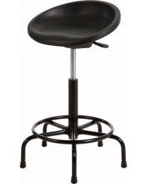 Stahulpstoel P3-200, rubberschuim, kuip zitting