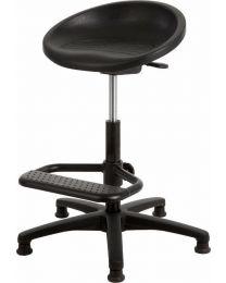 Stahulpstoel P3-267, rubberschuim, kuip zitting