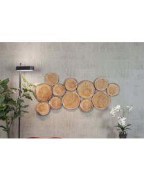 Akoestische wandpanelenset WOODSTOCK, set van 12, incl. bevestigingsmateriaal