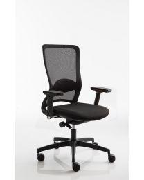 Luxy Pop bureaustoel, EN1335, netweave rug, met luxe 4D armleggers