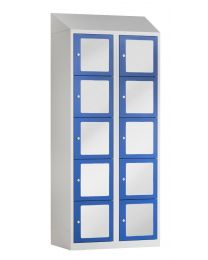 Premium lockerkast met acrylglas, 2 kolommen