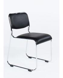 *** OPRUIMING *** TrendZ Buzz, koppelbare en stapelbare stoel, zwart kunstleder