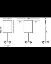 Flip-over Vario, magneethoudend, verrijdbaar