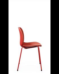 RBM Noor 6050SB kantinestoel, 4-poots model, beklede zitting + rug, vele opties!