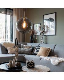 Glazen smoke bol hanglamp, Ø30cm