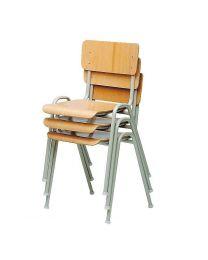Stapelbare stoel, op 4-poots frame, in beuken