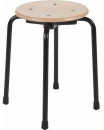 Werkstoel TAH45, stapelbaar, met houten zitting