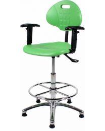Werkstoel Techniker, rubberschuim zitting en rug