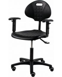 Werkstoel TEZ160, rubberschuim zitting en rug