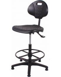 Werkstoel TEZ267, rubberschuim zitting en rug