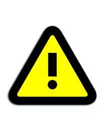 Magneet symbool Attention, magneetfolie, 35 x 40mm